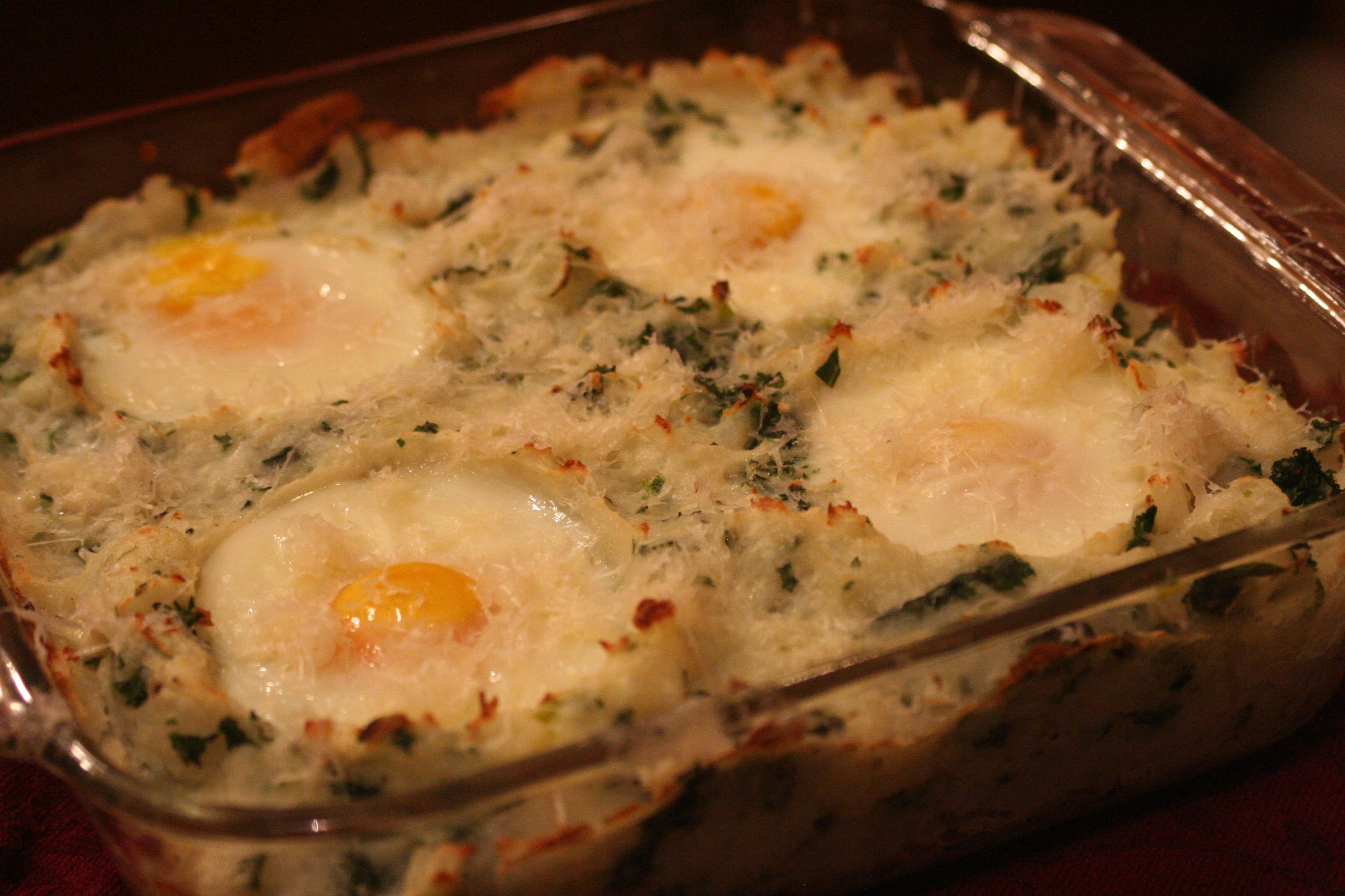 BAKED IRISH COLCANNON – Main Dish Version (Thanks, Jenna!) P..