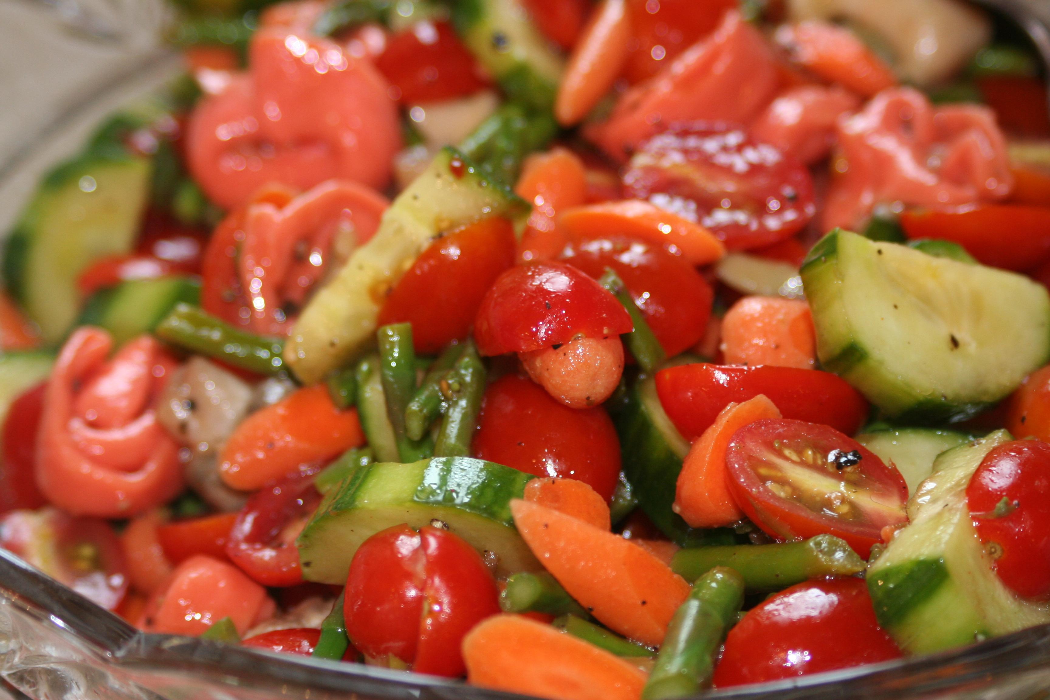 Marinated Vegetables Marinated vegetable salad