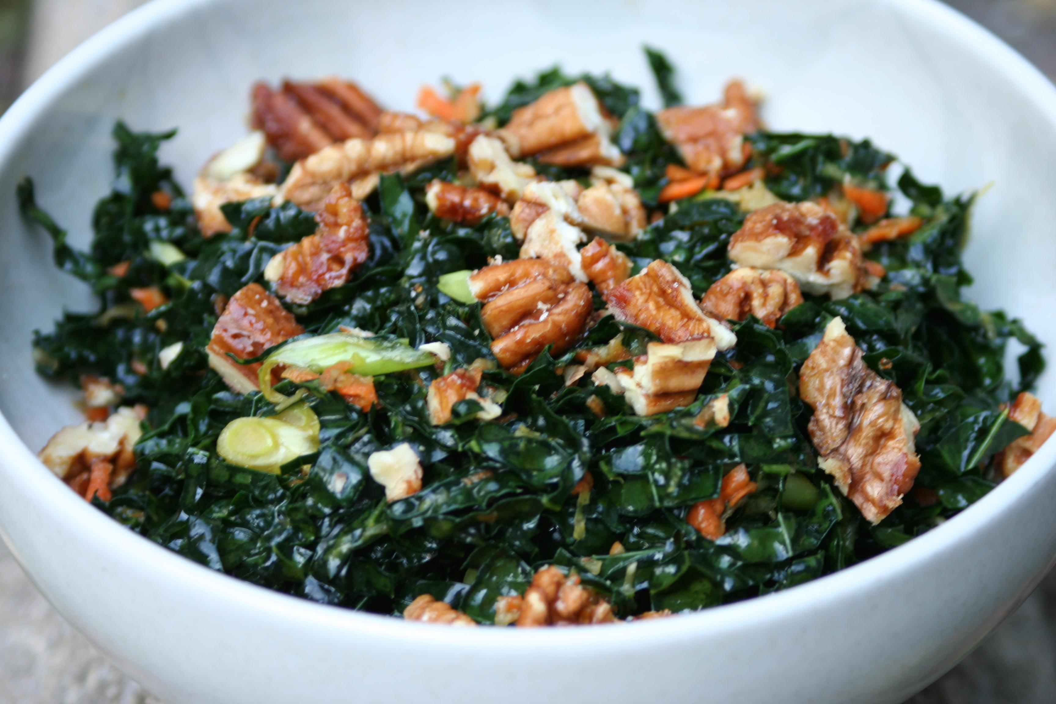 Raw Kale Salad   The Cooks Next Door