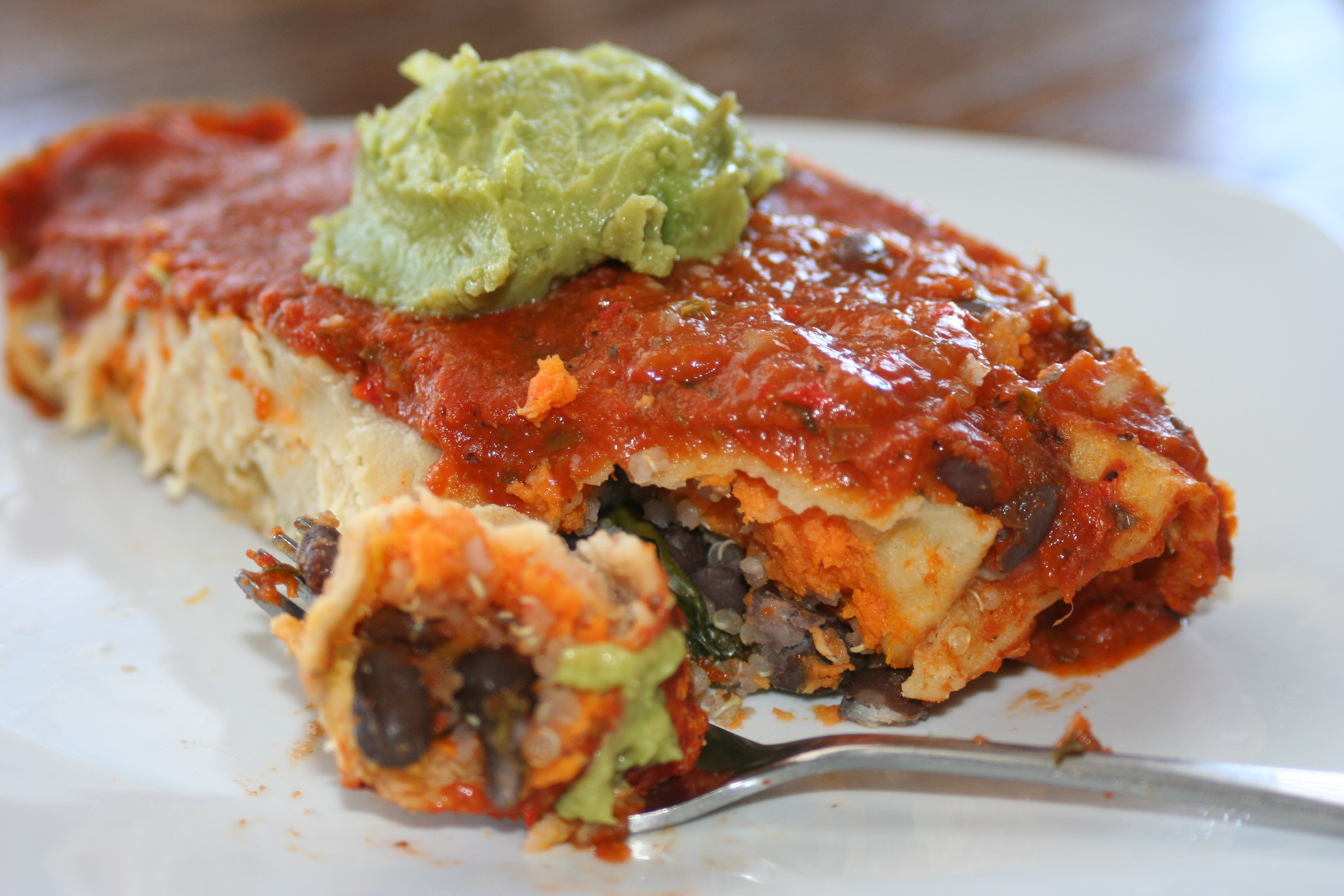 Vegetarian Enchiladas Recipe — Dishmaps